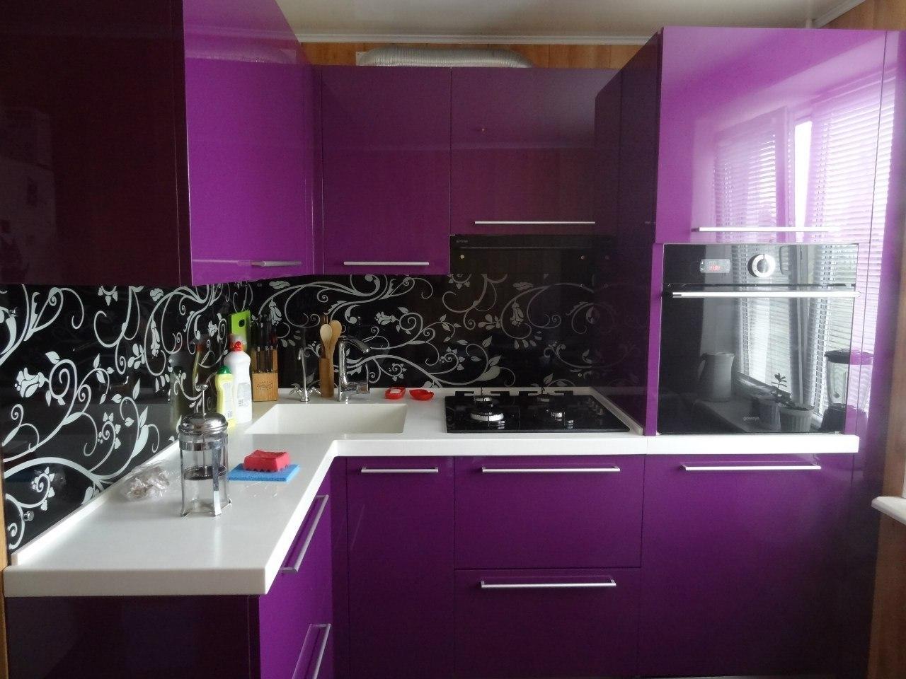 Кухни фиолетовые фото